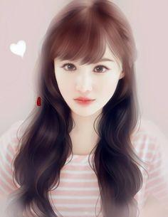 Next chptr is gonna be simply amazing! Lovely Girl Image, Japanese Drawings, Digital Art Girl, Painting Of Girl, Face Design, Kawaii Art, Anime Art Girl, Chinese Art, Asian Art