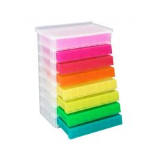 Really Useful Storage Drawer Unit 8 x Litre Rainbow - Plastic Storage Boxes - Storage & Shelving - Furniture & Storage Storage Drawers, Storage Boxes, Storage Shelves, Storage Organization, Furniture Storage, Shelving, Pillows Tumblr, Toothbrush Storage, Wrapping Paper Storage