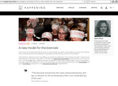 """thank you to HAPPENING magazine to present the COPENHAGEN ULTRACONTEMPORARY BIENNALE through an interview with Tijana Mišković and Thierry Geoffroy """" A new model for the biennale """" http://www.happening.media/en/category/interviews/1051/a-new-model-for-the-biennale  http://www.copenhagenbiennale.org/"""