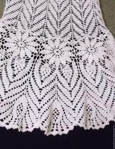 Fabulous Crochet a Little Black Crochet Dress Ideas. Georgeous Crochet a Little Black Crochet Dress Ideas. Crochet Bedspread Pattern, Crotchet Patterns, Crochet Stitches Patterns, Crochet Chart, Crochet Motif, Crochet Lace, Black Crochet Dress, Crochet Skirts, Crochet Blouse