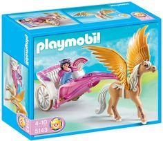 Playmobil - 5143 - Jeu de construction - Carosse avec cheval ailé: Amazon.fr: Jeux et Jouets