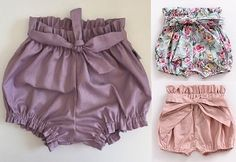 Short bloomer clochard - DIY- marlene mukai - molde infantil Baby Clothes Patterns, Easy Sewing Patterns, Kids Patterns, Cute Baby Clothes, Clothing Patterns, Baby Girl Romper, Baby Dress, Short Infantil, Short Niña