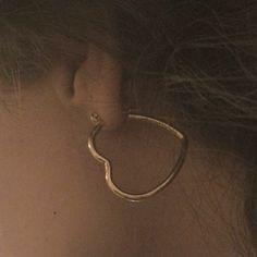 Gold Look Heart Hoop Earrings. Order today & shop it like it's hot at Missguided. Cute Jewelry, Jewelry Accessories, Mode Style, Hoop Earrings, Heart Earrings, Bling, Detail, Makeup, Gold