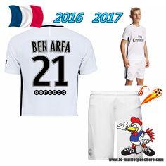 Adorable Maillot Du Paris Saint-Germain (BEN ARFA 21) Enfant Kits Third Saison 16 17 Petit Prix