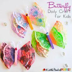 Butterfly Doily Craft
