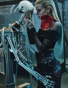 visual optimism; fashion editorials, shows, campaigns & more!: love machine: lara stone by steven klein for w march 2015