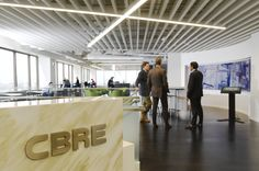 The commercial real estate firm CBRE just opened it's new Workplace360 office for it's downtown Denver