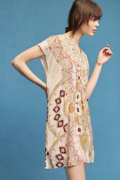 Slide View: 4: Medallion Silk Dress
