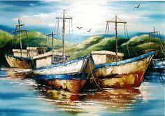 foto y gratis de barcos pesqueros espana | Cuadros Acuarela Pinturas Acrílico Pinturas Óleo Cuadros Vitrales