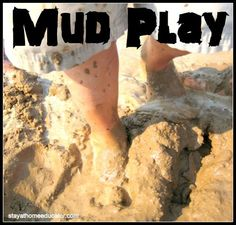 I am enthusiastic about mud play because not only do kids LOVE playing in the mud, but it can be very, very healthy for you, too! So, I built a mud pond...