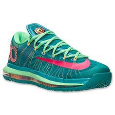 Men's Nike KD VI Elite Basketball Shoes  FinishLine.com   Turbo Green/Vivid Pink/Nightshade