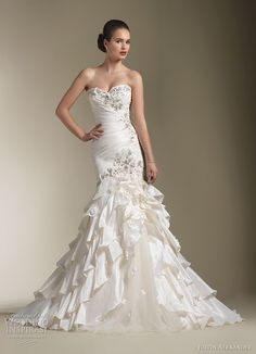 Justin Alexander Spring 2012 bridal collection. I loveeeee this