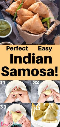 YUMM! SAMOSA! I can confidently say this is the best homemade Indian samosas you will ever make.This post will teach you each thing in detail. Right from making the potato filling to samosa dough, and how to fold and fry them perfectly.This is the best samosa you'll ever make! After you create this recipe, check out Cubes N Juliennes for easy, quick dinner recipes and meals your kids will love! #cubesnjuliennes #recipes Dinner Recipes Easy Quick, Gluten Free Recipes For Dinner, Quick Meals, Lunch Recipes, Breakfast Recipes, Vegetarian Recipes, Meal Recipes, Curry Recipes, Appetizer Recipes