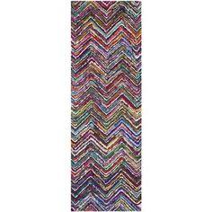Safavieh Handmade Nantucket Multi Cotton Rug (2'3 x 8')   Overstock.com Shopping - Great Deals on Safavieh Runner Rugs
