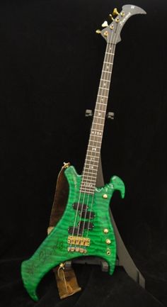 1991 Modulus Buzzard Green > Guitars : Bass - Cowtown Guitars | Gbase.com