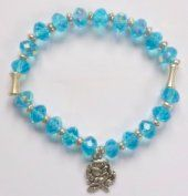 Blue Crystal Apparition Rosary Bracelet. Rosary Bracelet, Rosary Beads, Beaded Bracelets, Our Lady Of Lourdes, One Decade, Religious Gifts, Crucifix, Blue Crystals, Pendant