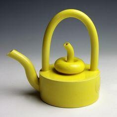 Walter Keeler: Yellow Teapot with Fruit Lid