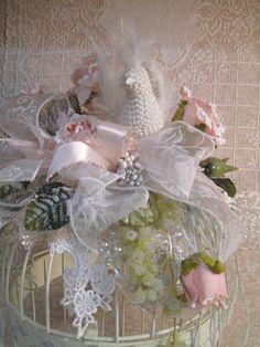 Winter Bird Cage-Bird Cage, Pink Rose