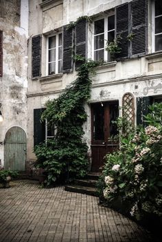 This Ivy House - delta-breezes: Mademoiselle Poirot Outdoor Spaces, Outdoor Living, Beautiful Homes, Beautiful Places, Ivy House, Grandma's House, Curb Appeal, Interior And Exterior, Exterior Design