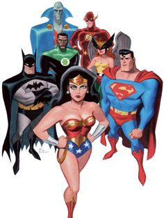 The Wonder Woman Gallery — Justice League (Bruce Timm) Bruce Timm, Comic Book Characters, Comic Character, Comic Books, Comic Art, Character Design, Arte Dc Comics, Dc Comics Art, Comics Girls