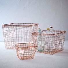 Wire Mesh Basket - Copper #westelm