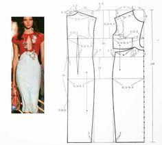 Drafting. Robe goutte bicolore. bi-matière. classy dress.