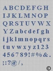 CROCHET PATTERNS LETTERS AND NUMBERS TO PERSONALIZE AFGHAN CROSS STITCH PATTERN E-MAILED.PDF by crochetpatternsetc
