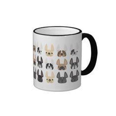 French Bulldog & Friends Mug mix n match w/ 5 French Bulldog matching mugs.