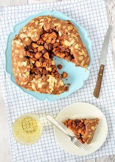 Speculaasgalette met appel, peer en noten