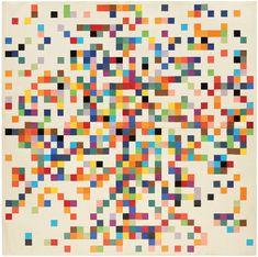 Ellsworth Kelly. Spectrum Colors Arranged By Chance II, 1951.