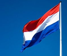 the Dutch flag. Red white and blue.