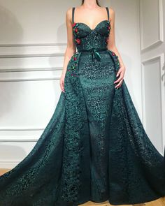 Beautiful Prom Dresses A-line Floor-length Spaghetti Straps Long Lace Prom Dress. - Beautiful Prom Dresses A-line Floor-length Spaghetti Straps Long Lace Prom Dress - Dark Green Prom Dresses, Beautiful Prom Dresses, Pretty Dresses, Formal Dresses, Casual Dresses, Mermaid Evening Gown, Lace Evening Dresses, Evening Gowns, The Dress