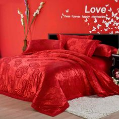 Aliexpress.com : Buy Wedding Satin jacquard Embroidery 4pcs bedding sets Soft silk cotton duvet cover,European bed sheet and pillowcases bedclothes from Reliable wedding suppliers on Kaifei Home Textile $115.00