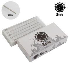 ZTATO 50Pcs Pro 10RS #Disposable #Sterile Steel Tattoo #Needles 10 Round Shader Supply Set #tattooneedles