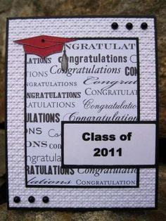 Graduation Card - like the layout of this card with it's simple/effective design and crisp elements