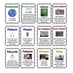 Pollution and Conservation Vocabulary Pack - 12 Posters, R