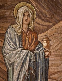 St Mary Magdalene mosaic by Lawrence OP, Burne-Jones mosaic in the apse of St Paul's within the Walls in Rome via Flickr