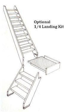 space saving stairs cottage spacesaver stair kit accessories from Scooter Wiring Diagrams cottage space saver staircase technical information layout diagrams sizes and installation details