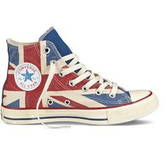 Distressed Union Jack Converse High Tops