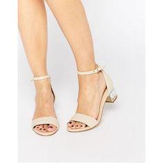 Dune Marcee Nude Gem Mid Heeled Sandals