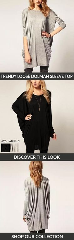 Get comfy in your go to top this fall and winter. This beyond cool oversized top features long dolman sleeves, and round neckline. Throw it on with jeans and ankle boots, and you're ready to go!