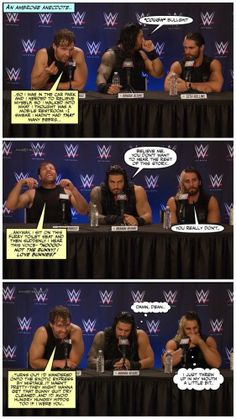 Something silly while we wait for Raw. Jacob Sartorius Imagines, Wrestling Memes, Wwe Funny, The Shield Wwe, Wwe Roman Reigns, Dean Ambrose, Geek Humor, Seth Rollins, Wwe Photos