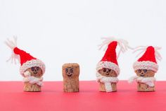 upcycled wine corks for christmas crafts as snowman with red hats home decor amazing ideas