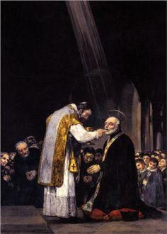 La última comunión de san José de Calasanz.