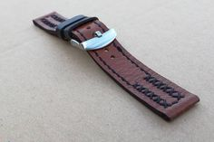 Handmade 20 mm Attractive genuine leather watch band with