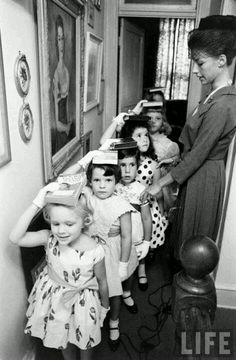 Charm school, vintage Life magazine picture