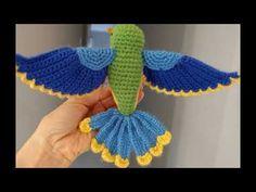 Flying Bird : Ravelry: Flying Bird pattern by Josephine chow Crochet Bird Patterns, Crochet Birds, Crochet Patterns Amigurumi, Cute Crochet, Crochet Animals, Crochet Crafts, Crochet Dolls, Crochet Flowers, Crochet Projects