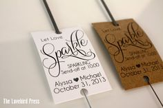 Wedding Sparkler Tags Personalized Printable by TheLovebirdPress, $8.00