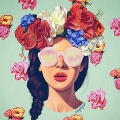 Image via We Heart It #art #beautiful #colors #drawing #flowers #hipster #lovely #vintage