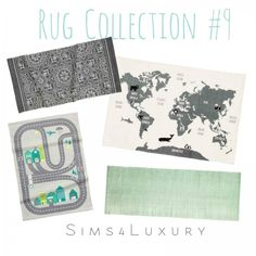 Sims4Luxury: Rug Collection 9 • Sims 4 Downloads